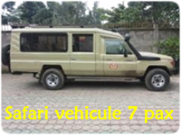 Toyota Land Cruiser 7 pax and driver